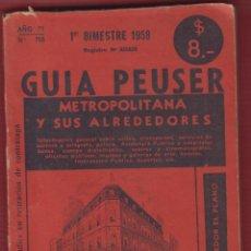 Livros: GUIA PEUSER, METROPOLITANA Y SUS ALREDEDORES, 173 PAGINAS, LT269. Lote 131773486