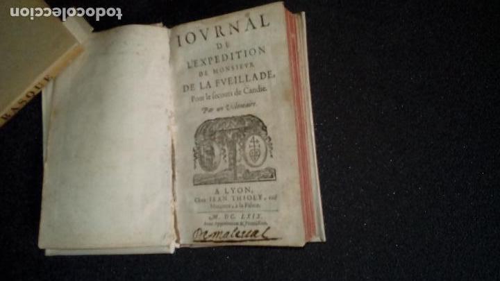 Libros: .Viajes Historia de esta expedición importante a Candie. Monsieur de la Fueillade. - Foto 3 - 132707318