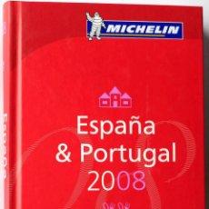 Livros: GUIA MICHELIN, ESPAÑA & PORTUGAL 2008 HOTELES RESTAURANTES. Lote 136296662