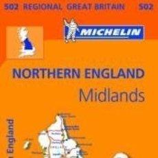 Libros: MAPA REGIONAL NORTHERN ENGLAND, THE MIDLANDS. Lote 158061008