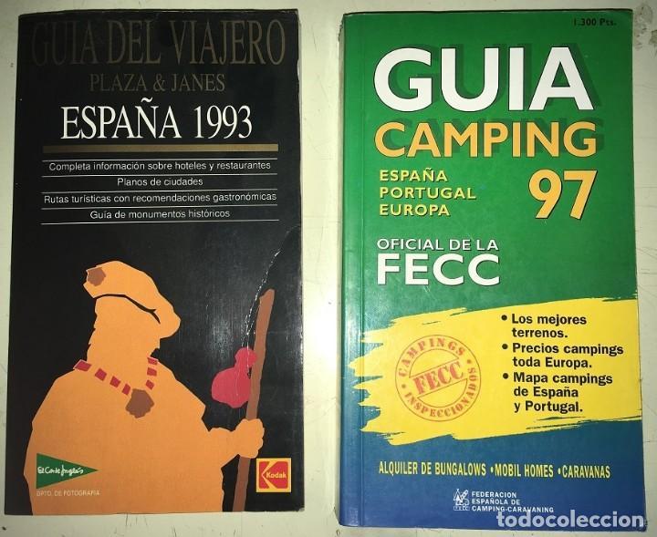 2 GUIAS: GUIA CAMPING 97 ESPAÑA PORTUGAL EUROPA -- GUIA DEL VIAJERO PLAZA Y JANES ESPAÑA 1993 (Libros Nuevos - Ocio - Guía de Viajes)