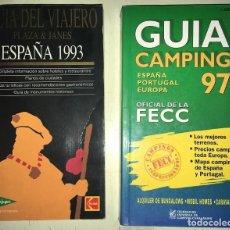 Libros: 2 GUIAS: GUIA CAMPING 97 ESPAÑA PORTUGAL EUROPA -- GUIA DEL VIAJERO PLAZA Y JANES ESPAÑA 1993. Lote 183661462