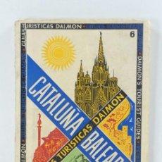 Libros: GUIA TURISTICA Y MAPA DE CARRETERAS DE CATALUÑA Y BALEARES DAIMON 1962. Lote 183705106