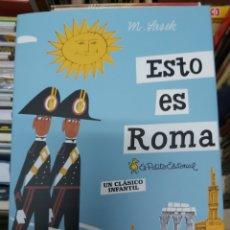 Libros: ESTO ES ROMA, DE M. SASEK. Lote 267702854