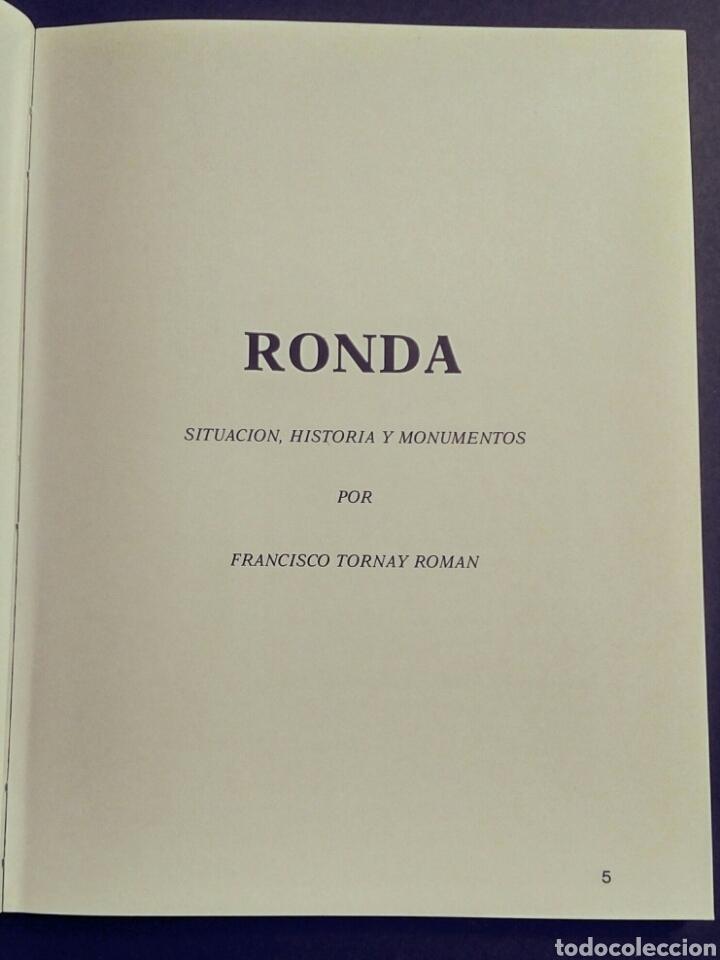 Libros: Ronda. Situación, historia y monumentos (Guía) - F. Tornay Román, Comerç-25, Barcelona, 1978 - Foto 2 - 194139590