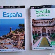 Libros: LOTE DE 2 LIBROS GUÍAS VISUALES ESPAÑA, SEVILLA Y ANDALUCÍA ). Lote 207956993