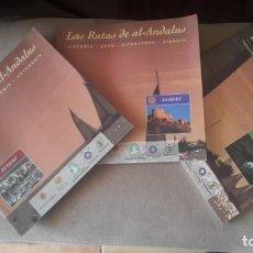 Livros: LOTE DE 3 RUTAS DE AL -ANDALUS AL-IDRISI. Lote 207996205