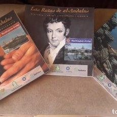 Libros: LOTE DE 3 RUTAS DE AL -ANDALUS WASHINGTON IRVING. Lote 207998593