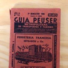 Libros: GUIA PEUSER, NUMERO 196, METROPOLITANA DE TRANSPORTES Y TURISMO, (PEUSER). Lote 227007670
