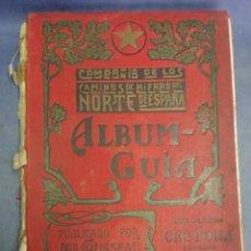 Libros: ALBUM GUIA DE LA COMPAÑÍA DE LOS CAMINOS DE HIERRO DEL NORTE DE ESPAÑA DEL AÑO 1915. Lote 236059280