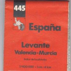 Libros: GUIA MICHELIN Nº 445 ESPAÑA LEVANTE VALENCIA - MURCIA AÑO 1997 VER FOTOS ADICIONALES DEL ESTADO. Lote 238803915