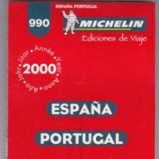 Libros: GUIA MICHELIN Nº 990 ESPAÑA - PORTUGAL AÑO 2000 VER FOTOS ADICIONALES. Lote 238809170