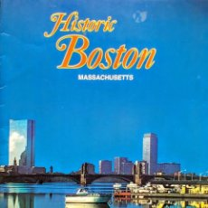 Libros: HISTORIC BOSTON. ( ILLUSTRATED, ENGLISH. 63 COLOR PHOTOGRAPHS ). Lote 257732400