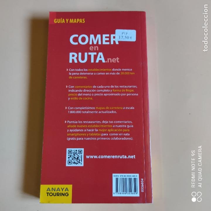 Libros: GUIAS Y MAPAS. COMER EN RUTA.NET. 2013. ANAYA TOURING. 431 PAGS. - Foto 7 - 259260515