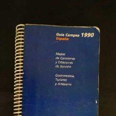 Libros: GUIA CAMPSA 1990 ESPAÑA MAPAS DE CARRETERAS Y ESTACIONES DE SERVICIO GASTRONOMIA TURISMO Y ARTESANIA. Lote 263165710