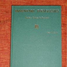 Libros: INVENTARI ESGLESIES DE CATALUNYA JOSEP MA GAVIN VOLUM 16 ANOIA I CONCA DE BARBERÀ. Lote 54868757