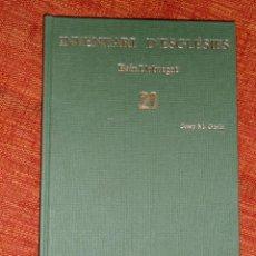 Libros: INVENTARI ESGLESIES DE CATALUNYA JOSEP MA GAVIN VOLUM 21 BAIX LLOBREGAT. Lote 54868887