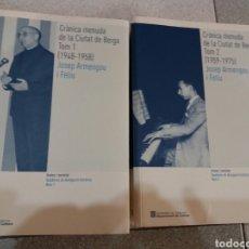 Libros: CRÓNICA MENUDA DE LA CIUTAT DE BERGA. Lote 66209589