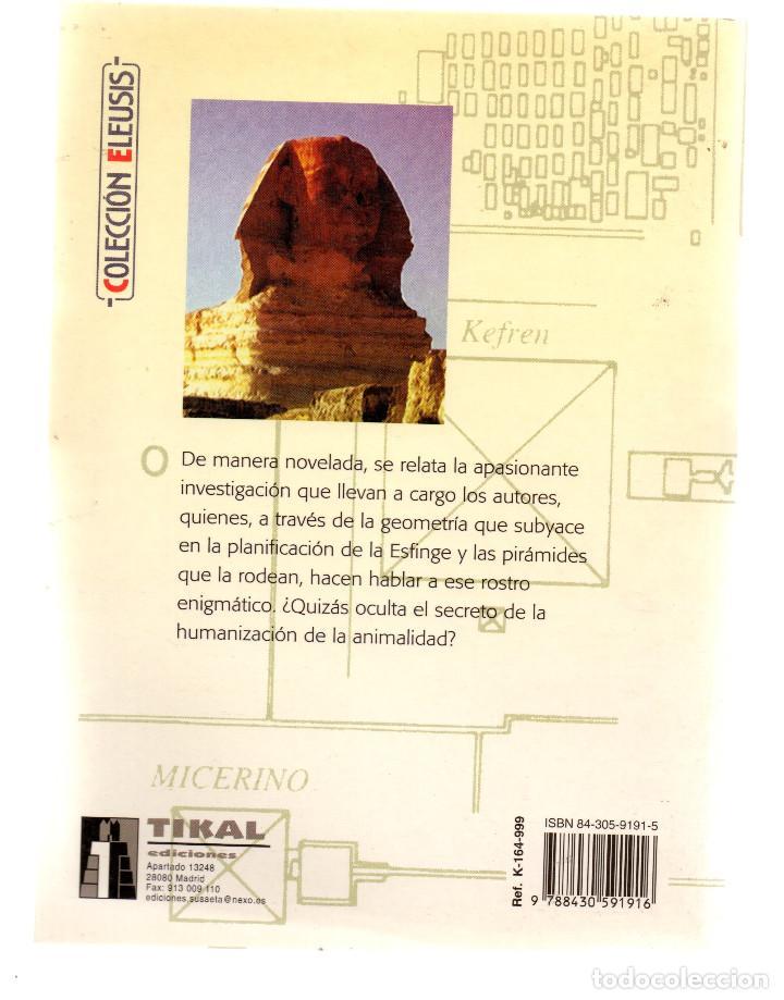 Libros: Qué esconde la esfginge de Gizah? - Guy Gruais Guy Mouny - Colección Eleusis - Tikal Ediciones - - Foto 2 - 77911685