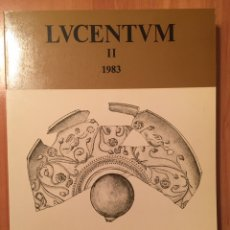 Libros: LUCENTUM II. 1983. ANALES UNIVERSIDAD ALICANTE. PREHISTORIA, ARQUEOLOGÍA E HISTORIA ANTIGUA. Lote 86723712