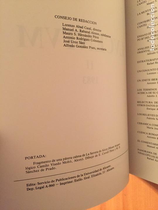 Libros: Lucentum II. 1983. Anales Universidad Alicante. Prehistoria, arqueología e historia antigua - Foto 3 - 86723712
