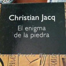 Libros: LIBRO EL ENIGMA DE LA PIEDRA DE CRISTIAN JACOB. Lote 91017974