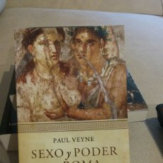 Libros: LIBRO SEXO Y PODER EN ROMA DE PAUL VEYNE. Lote 97947067