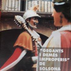 Libros: GEGANTS I DEMÉS IMPROPERIS DE SOLSONA EDITAT RL 1998. Lote 113940134