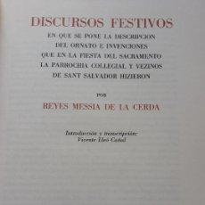 Libros: LIBRO DISCURSOS FESTIVOS MESSIA DE LA CERDA- FOCUS 1985- EJEMPLAR NÚMERO 135. Lote 132474298