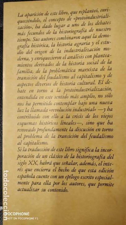 Libros: INDRUSTRIALIZACION ANTE DE LA INDUSTRIALIZACION ( PETER KRIEDTE, HANS MEDICK ) - Foto 2 - 219086272