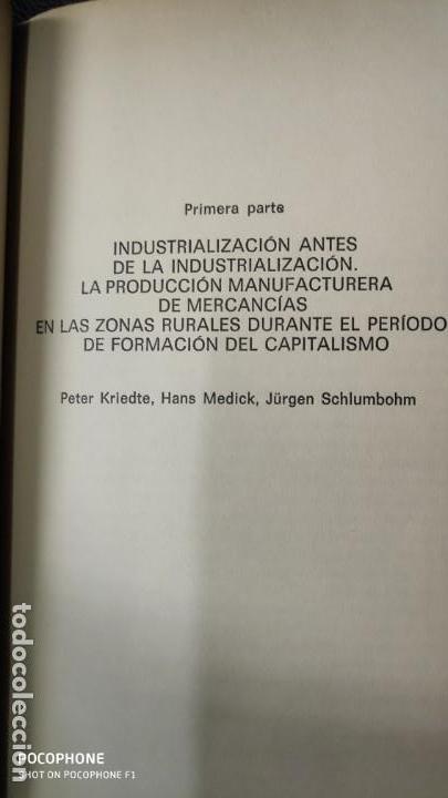 Libros: INDRUSTRIALIZACION ANTE DE LA INDUSTRIALIZACION ( PETER KRIEDTE, HANS MEDICK ) - Foto 4 - 219086272