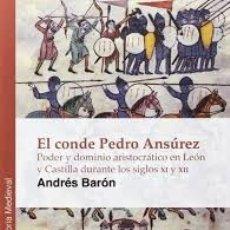 Libros: EL CONDE PEDRO ANSÚREZ (ANDRÉS BARÓN) GLYPHOS 2013. Lote 178966275