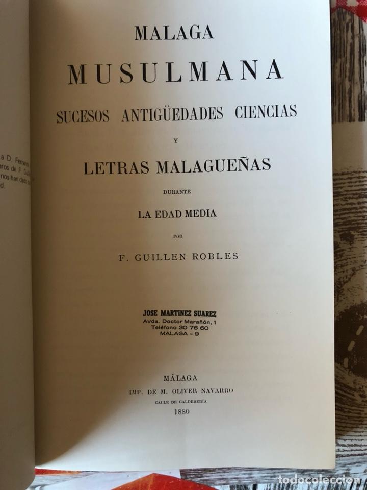 Libros: Libro la malaga musulmana - Foto 3 - 188784925