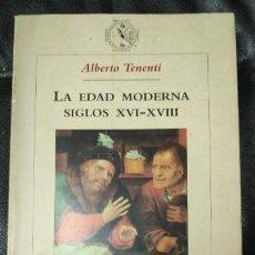 Livros: LA EDAD MODERNA SIGLOS XVI-XVIII ( ALBERTO TENENTI ) EDITORIAL CRITICA. Lote 190410252