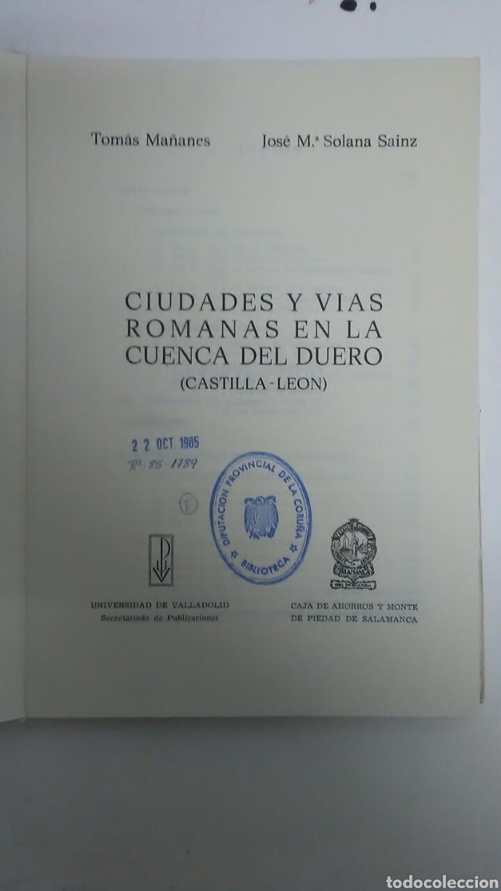 Libros: Ciudades y Vias Romanas en Cuenca del Duero - Foto 2 - 194347751