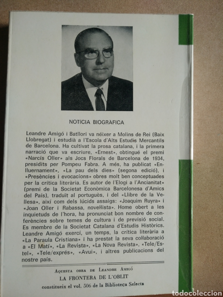 Libros: La Frontera de l oblit Pròleg de Miquel Dolç - Foto 2 - 196566649