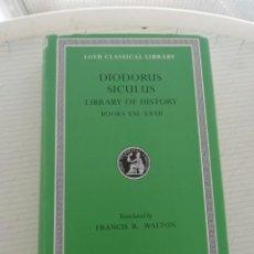 Libros: DIODORO SICULO LIBROS XXI XXXII. Lote 198603213