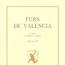 Libros: FURS DE VALÈNCIA. Lote 206590407