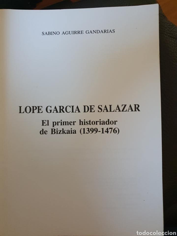 Libros: LOPE GARCIA DE SALAZAR - Foto 2 - 213227875