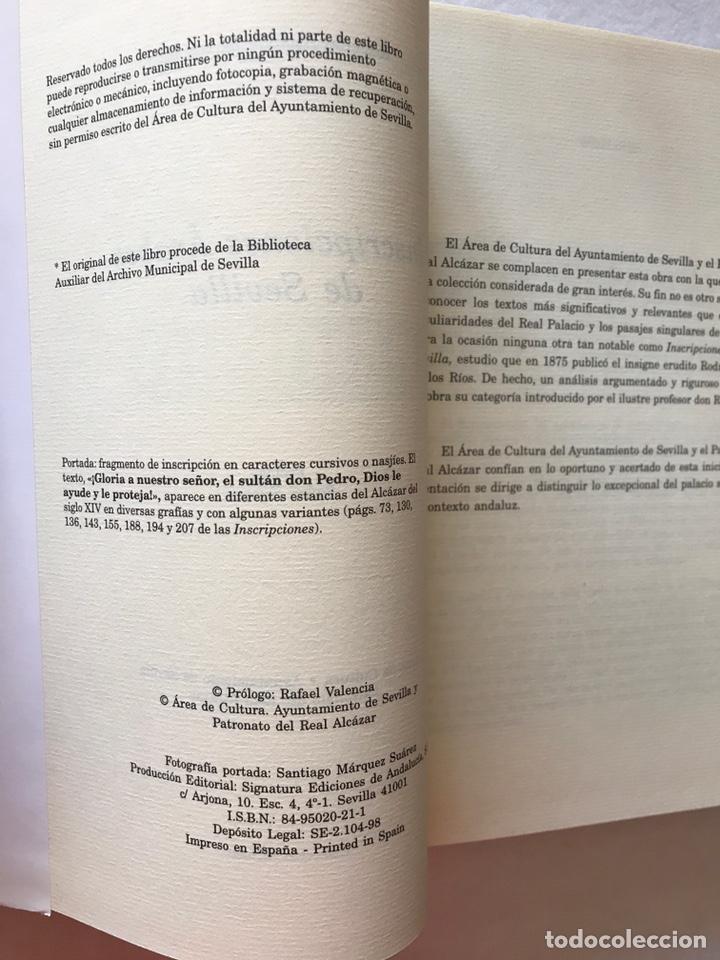 Libros: INSCRIPCIONES ÁRABES DE SEVILLA. AMADOR DE LOS RÍOS. FACSÍMIL. PATRONATO REAL ALCÁZAR - Foto 8 - 214010645