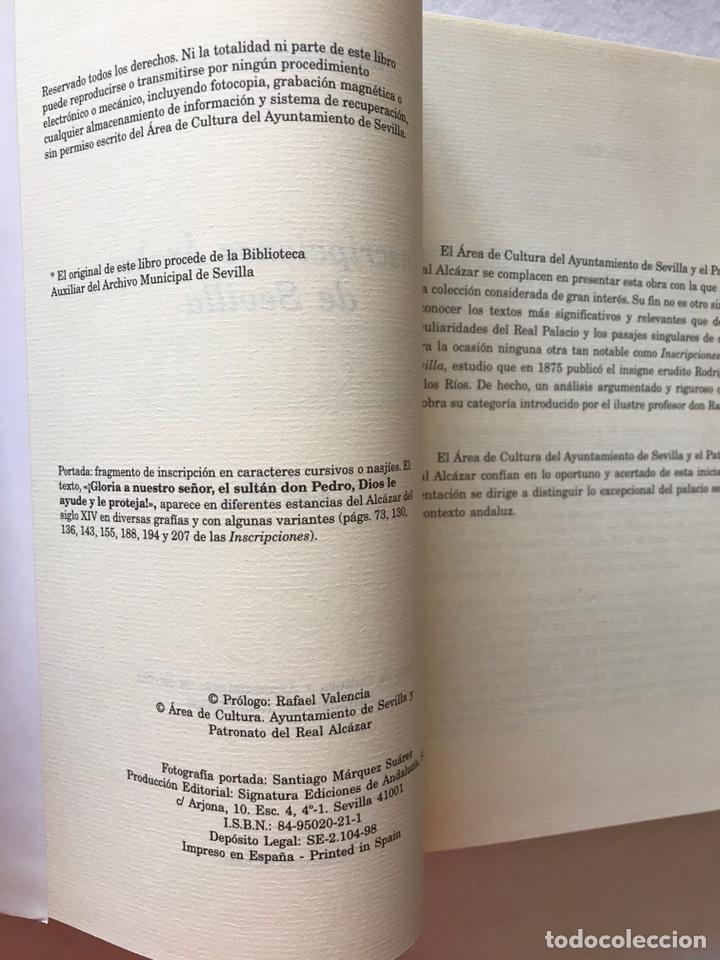 Libros: INSCRIPCIONES ÁRABES DE SEVILLA. AMADOR DE LOS RÍOS. FACSÍMIL. PATRONATO REAL ALCÁZAR - Foto 9 - 214010645