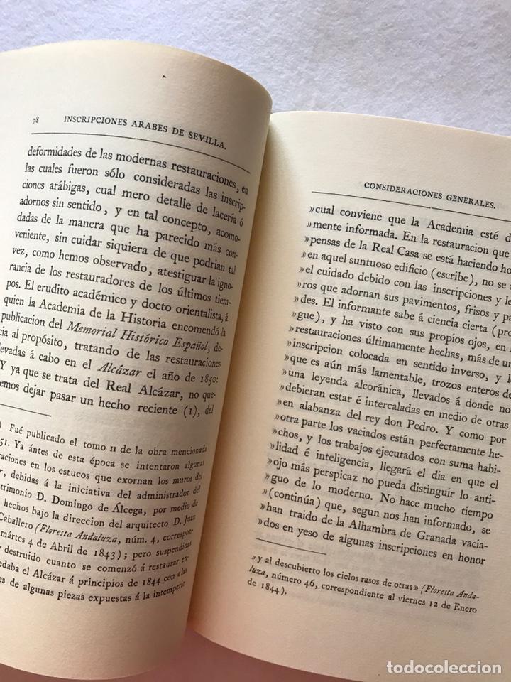 Libros: INSCRIPCIONES ÁRABES DE SEVILLA. AMADOR DE LOS RÍOS. FACSÍMIL. PATRONATO REAL ALCÁZAR - Foto 12 - 214010645