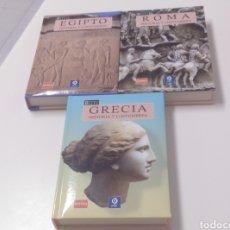 Libros: LOTE DE 3 LIBROS. HISTORIA Y COSTUMBRES DE EGIPTO, ROMA Y GRECIA. Lote 214295651