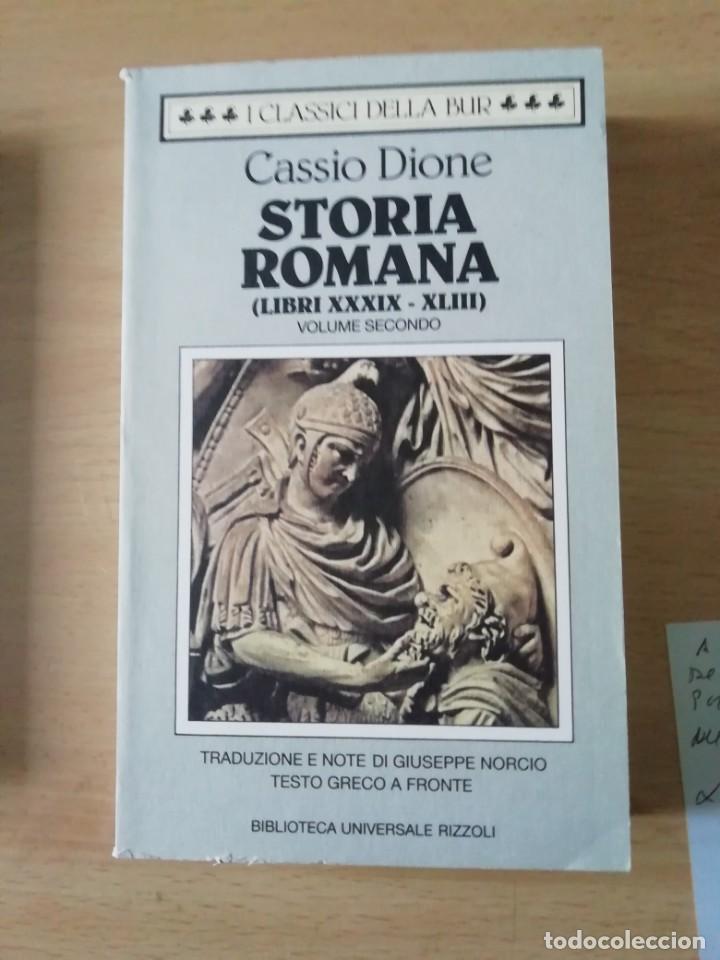 STORIA ROMANA LIBROS 39 AL 43 DE CASSIO DIONE EN ITALIANO CON TEXTO GRIEGO AL FRENTE (Libros Nuevos - Historia - Historia Antigua)