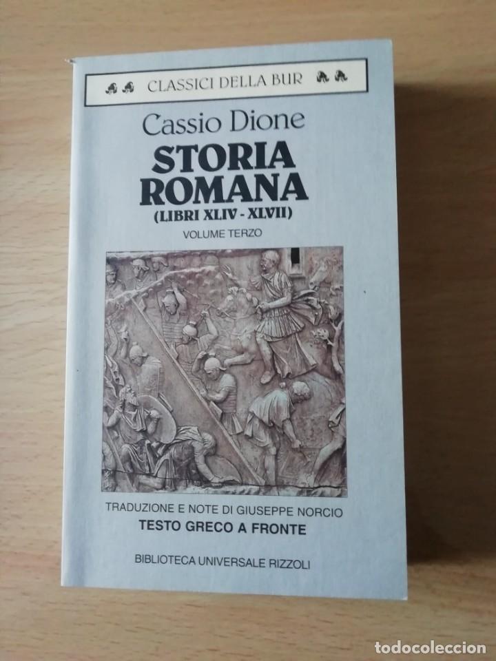 STORIA ROMANA LIBROS 44 AL 47 DE CASSIO DIONE EN ITALIANO CON TEXTO GRIEGO AL FRENTE (Libros Nuevos - Historia - Historia Antigua)