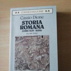 Libros: STORIA ROMANA LIBROS 44 AL 47 DE CASSIO DIONE EN ITALIANO CON TEXTO GRIEGO AL FRENTE. Lote 226764165
