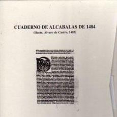 Libros: CUADERNO DE ALCABALAS DE 1484. (HUETE, ALVARO DE CASTRO. 1485). Lote 238457160