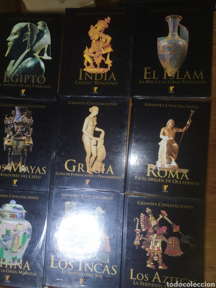 Libros: Ocasión! Colección completa a estrenar de Grandes Civilizaciones, ediciones Rueda. 10 tomos. - Foto 4 - 248749125