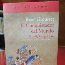 Libros: RENÉ GROUSSET. EL CONQUISTADOR DEL MUNDO. VIDA DE GENGIS KAN (EL ACANTILADO). Lote 251523750