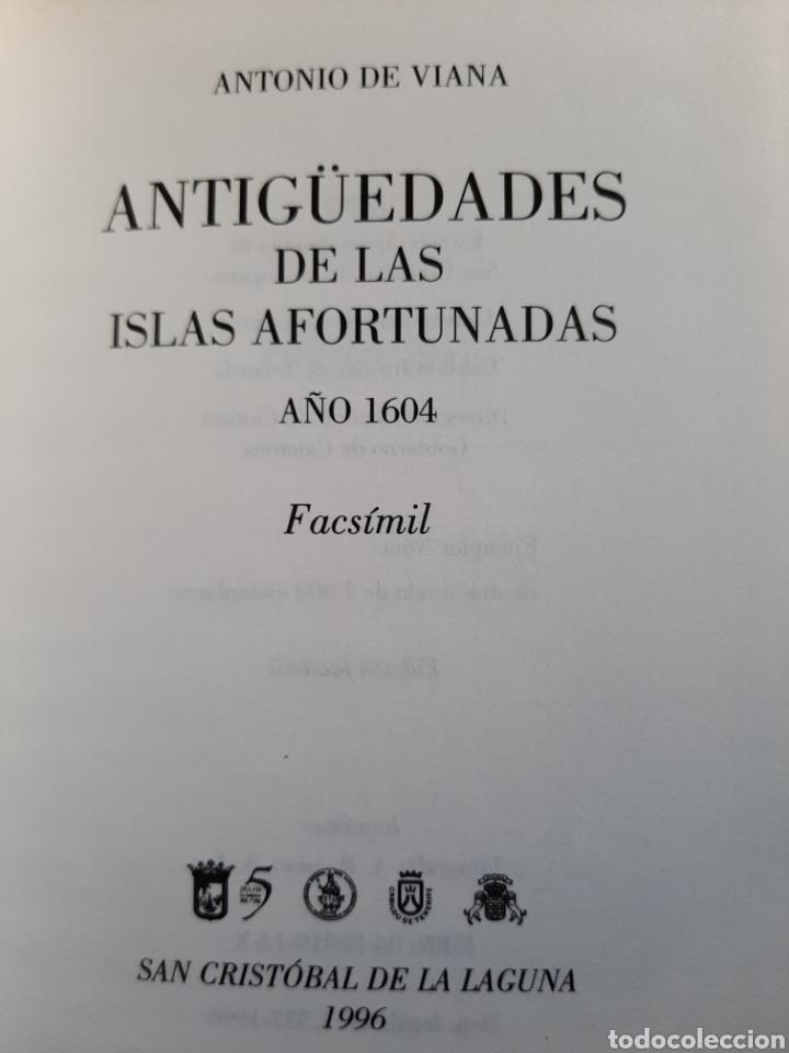 Libros: Antigüedades de las Islas Afortunadas Año 1604 - Foto 6 - 261691680
